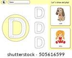 cartoon dog and doll. alphabet...