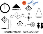 many popular symbols for... | Shutterstock .eps vector #505622059