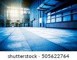empty brick floor front of... | Shutterstock . vector #505622764