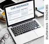 Small photo of Car Insurance Form Accidental Concept