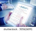 calendar agenda event meeting... | Shutterstock . vector #505626091