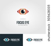 vision eye focus logo icon... | Shutterstock .eps vector #505628335