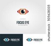 vision eye focus logo icon... | Shutterstock .eps vector #505628335