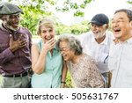 group of senior retirement...   Shutterstock . vector #505631767