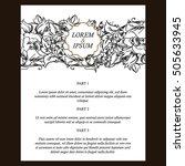 vintage delicate invitation... | Shutterstock . vector #505633945