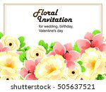 romantic invitation. wedding ... | Shutterstock .eps vector #505637521
