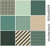 collection of nine seamless... | Shutterstock .eps vector #505640059