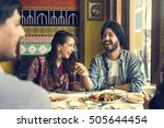 indian ethnicity meal food roti ... | Shutterstock . vector #505644454