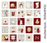 christmas advent calendar | Shutterstock .eps vector #505649431