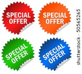 special offer sticker | Shutterstock . vector #50565265