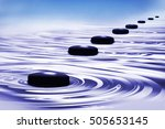 Stones In Water  3d Illustration