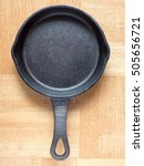 Top View Of Cast Iron Skillet