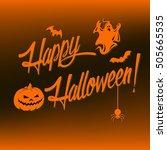 happy halloween vector...   Shutterstock .eps vector #505665535
