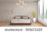 bedroom interior. 3d... | Shutterstock . vector #505672105