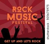 rock music poster template | Shutterstock .eps vector #505675975