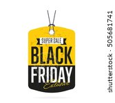 black friday sale sticker or... | Shutterstock .eps vector #505681741