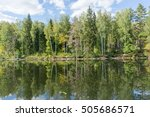 Lake With Sunny Forest On Bank...