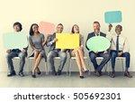 business team speech bubble... | Shutterstock . vector #505692301