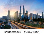 kuala lumpur city skyline in...   Shutterstock . vector #505697554