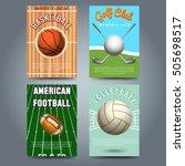 sport brochure flyers template... | Shutterstock .eps vector #505698517