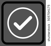 ok black and white vector icon. ...
