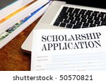 blank scholarship  application... | Shutterstock . vector #50570821