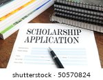 blank scholarship  application... | Shutterstock . vector #50570824