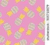 pineapple   vector illustration | Shutterstock .eps vector #505710079