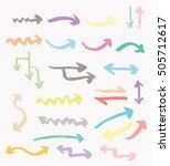 arrow marker set | Shutterstock .eps vector #505712617