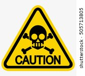 skull danger sign | Shutterstock .eps vector #505713805