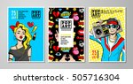 set of vector cards and banners ... | Shutterstock .eps vector #505716304