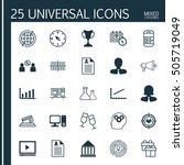 set of 25 universal editable... | Shutterstock .eps vector #505719049