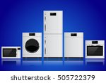household appliances. set of... | Shutterstock . vector #505722379