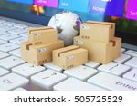 3d illustration delivery... | Shutterstock . vector #505725529