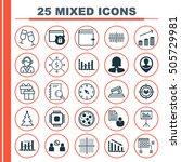 set of 25 universal editable... | Shutterstock .eps vector #505729981