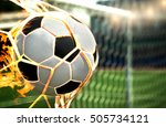 Small photo of Football, Soccer goal