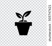 plant pot icon | Shutterstock .eps vector #505747621
