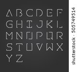 vector alphabet design set... | Shutterstock .eps vector #505749514