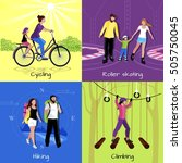 active leisure concept with... | Shutterstock .eps vector #505750045