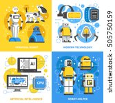 artificial intelligence 2x2... | Shutterstock .eps vector #505750159
