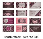 set of business cards. template ... | Shutterstock .eps vector #505755631