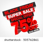 black friday super sale special ... | Shutterstock . vector #505762861