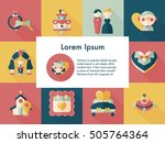 wedding and marriage icons set | Shutterstock .eps vector #505764364