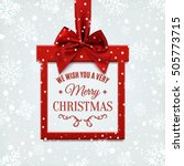 we wish you a very merry... | Shutterstock .eps vector #505773715