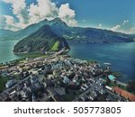 austria by drone view | Shutterstock . vector #505773805