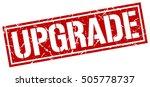 upgrade. grunge vintage upgrade ... | Shutterstock .eps vector #505778737