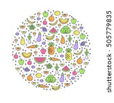 vector illustration with... | Shutterstock .eps vector #505779835