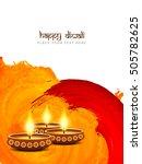 happy diwali religious... | Shutterstock .eps vector #505782625