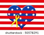 heart with stars in stripes... | Shutterstock . vector #50578291
