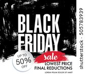 black friday sale banner | Shutterstock .eps vector #505783939